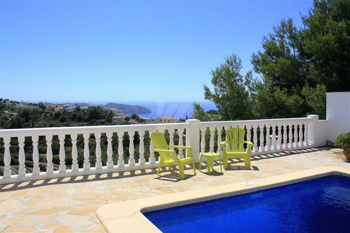 Villa zum Verkauf in Moraira mit Panoramablick auf Meer und Berge