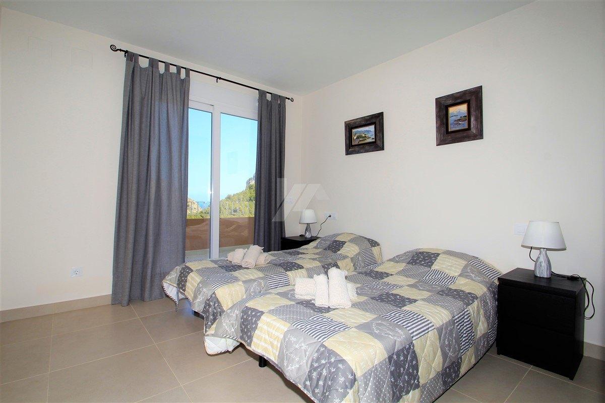 Neubau Villa zum Verkauf in Moraira, Blick aufs Meer.