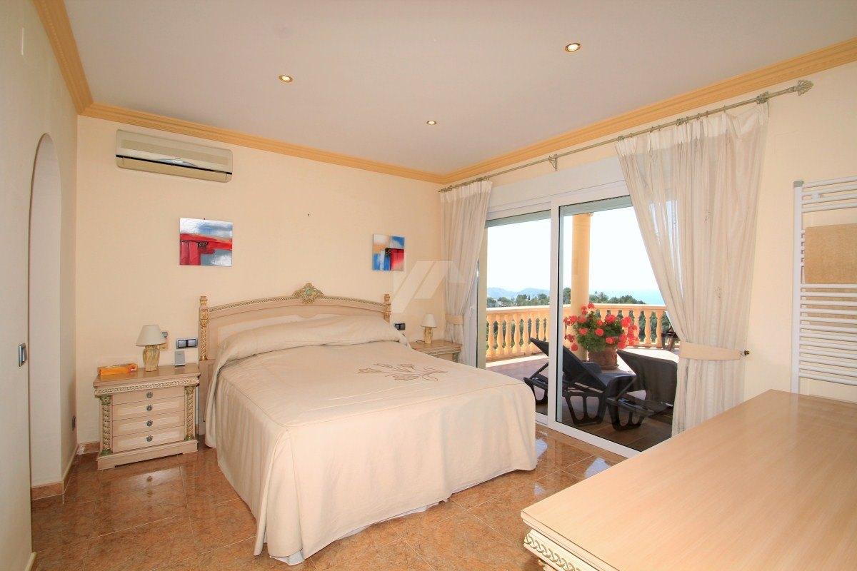 Panorama-Blick auf das Meer Villa zu verkaufen in Teulda-Moraira, Costa Blanca.