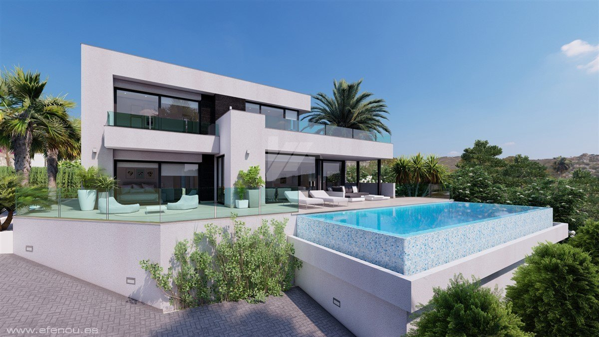 Neubau Villa zum Verkauf in Moraira, Costa Blanca.
