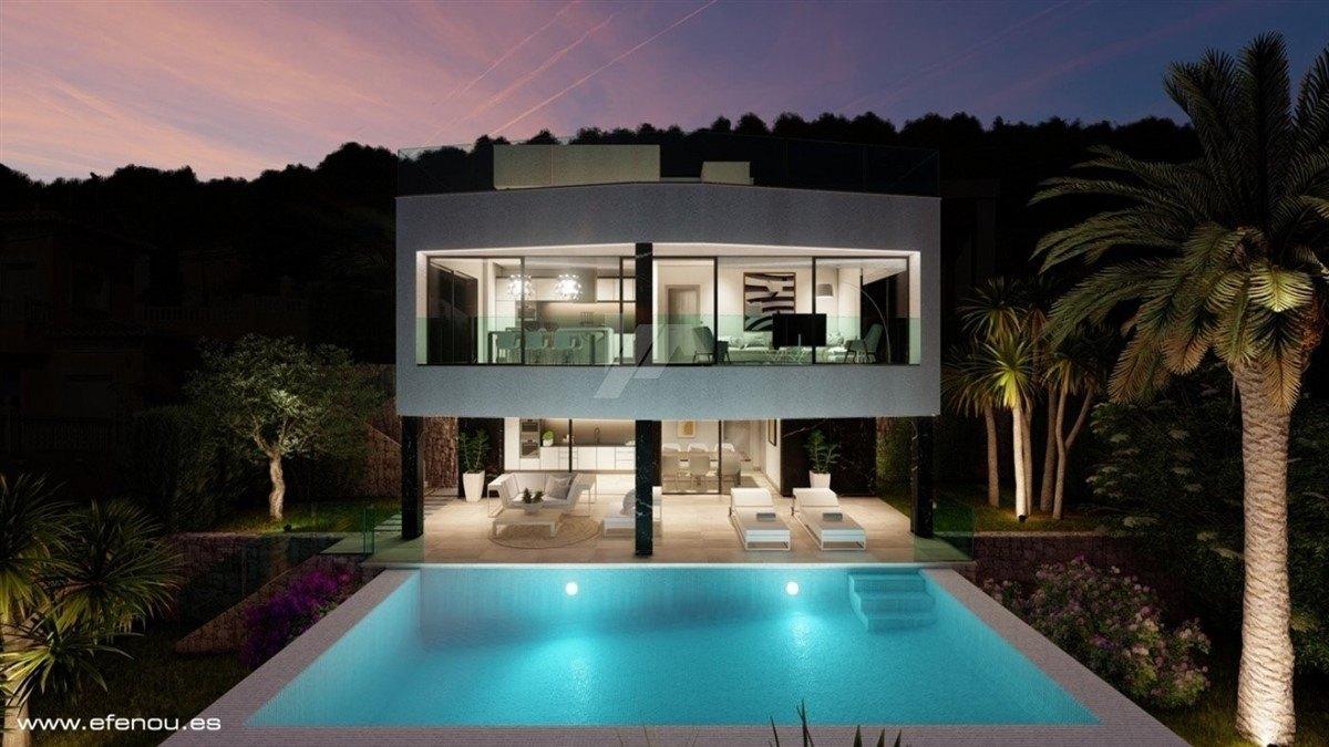 Villa mit Meerblick zum verkauf in Calpe, Costa Blanca.