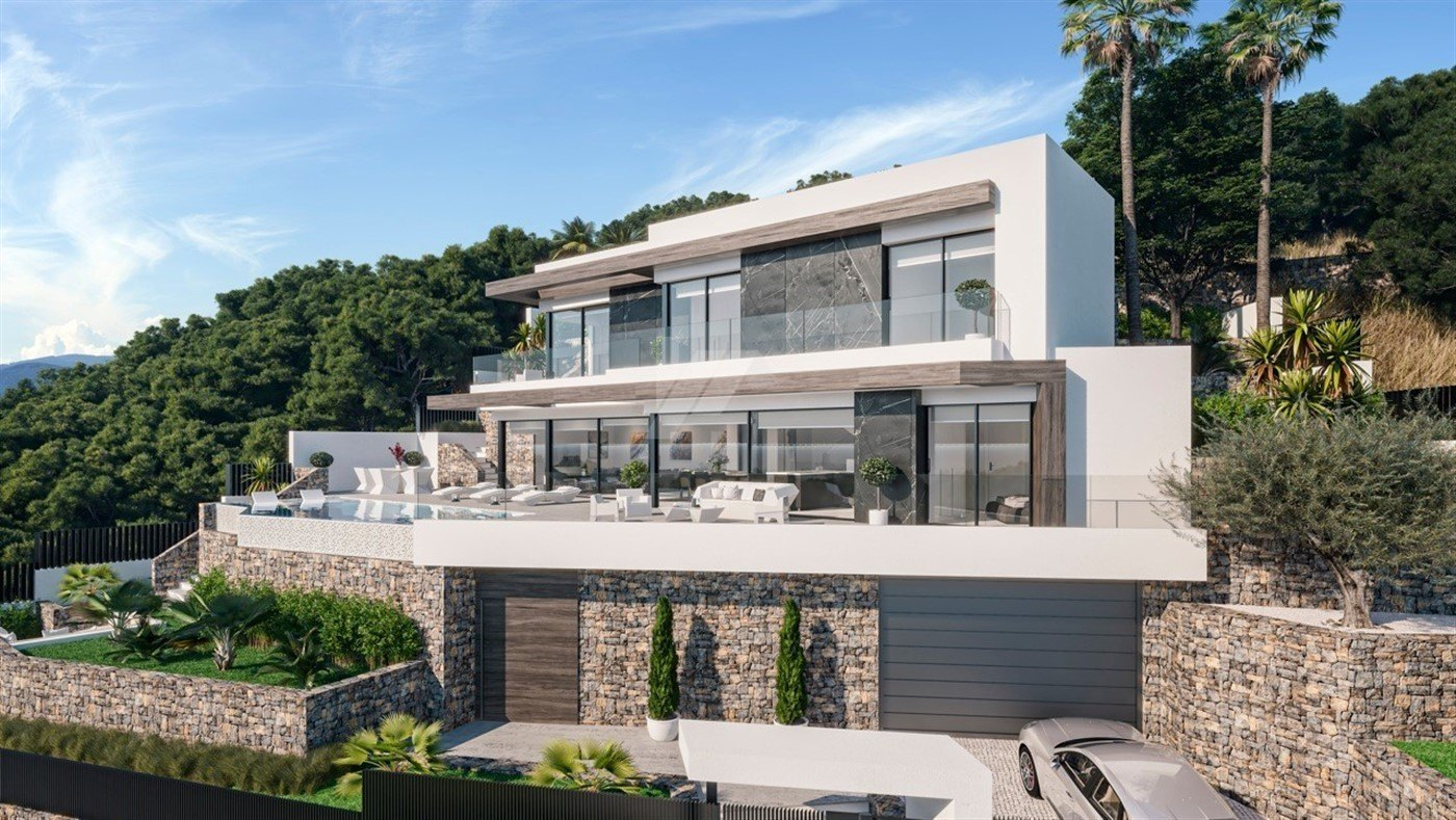 Luxuriöse Villa mit Meerblick zum Verkauf in Calpe, Costa Blanca.