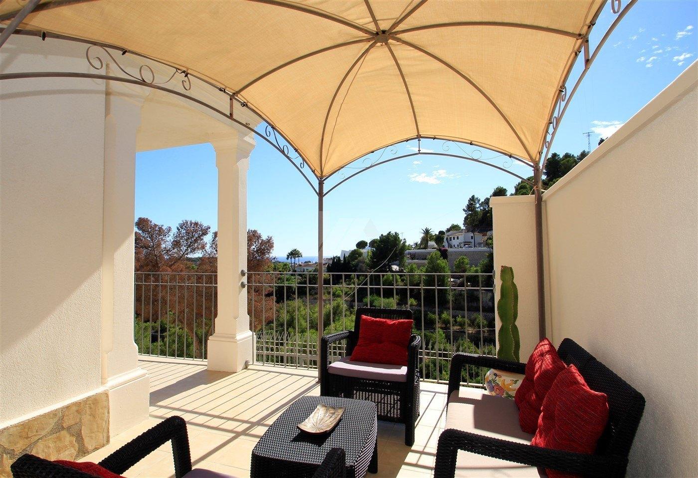 Makellose Meerblick Villa zum Verkauf in Moraira, Costa Blanca.