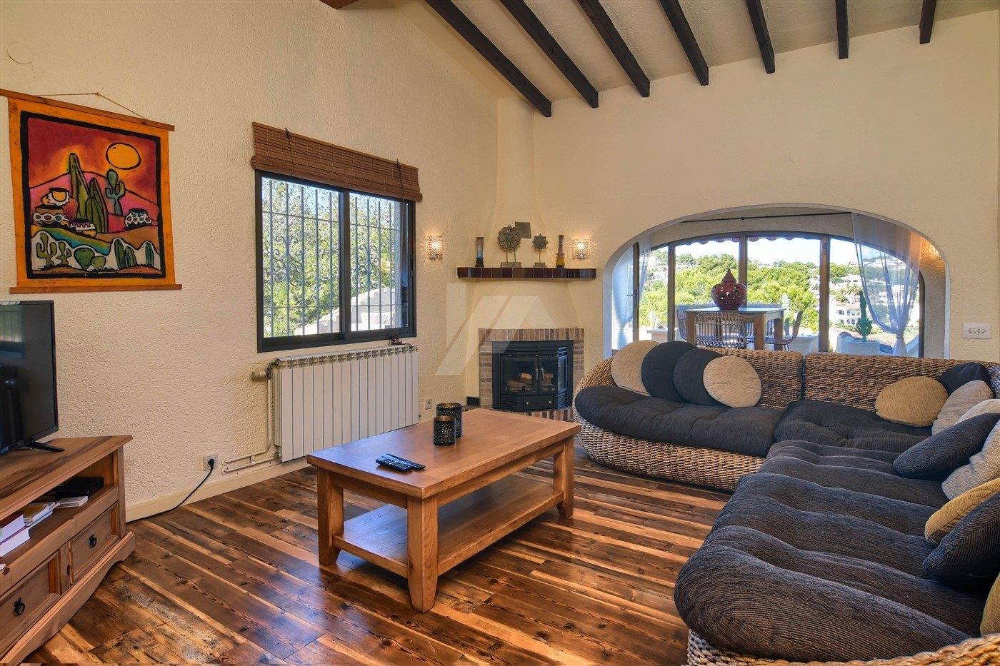Villa zum Verkauf in Moraira, nahe Zentrum, Costa Blanca.